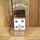Wooden Cottage with Bunting Home Gift