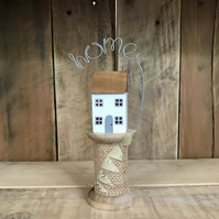 Cottage on Bobbin with Home Gift