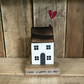 Handmade wooden Home with heart gift