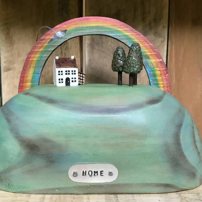 Home on the Hill with Woodland Handmade Gift