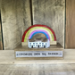 Wooden Rainbow with Houses Gift