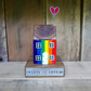 Wooden Rainbow House Love is Love