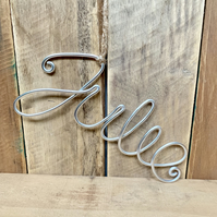 Personalised wire word or name