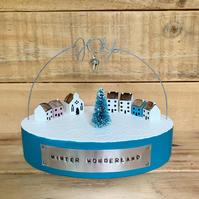 Wooden Winter Wonderland Village Christmas Gift