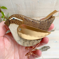 Wooden Wren hand crafted gift