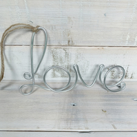 Handmade Wire word 'Love' gift