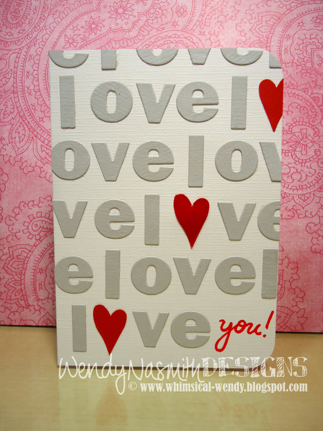 Love you heart Valentine's Day card