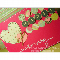 Fizzy Pink Happy Anniversary card