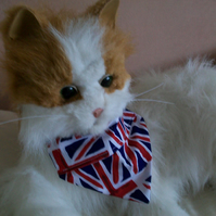 Cat or Tiny Dog XS Funky Union Jack Pattern Bandanna