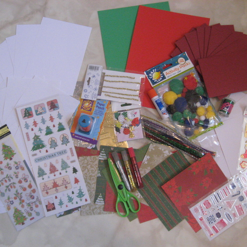 Christmas Card Making Items