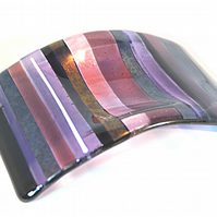Fused Glass Candle Arc - Purple