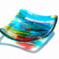 Symphony Small Fused Glass Dish
