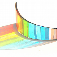 Rainbow Glass Sculpture Panel - Chromatic Rainbow Arc (CRHC-002)