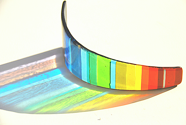 Glass Sculpture Panel - Chromatic Arc (CRHC-001)