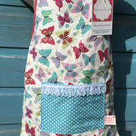 Children's Apron - Multi Coloured Butterfly Fabric