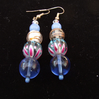Blue fun earrings