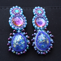Blue Dreams beaded earrings