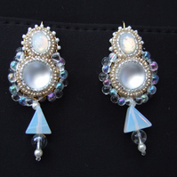 Opalescent White earrings