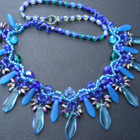 Blue Dagger Necklace