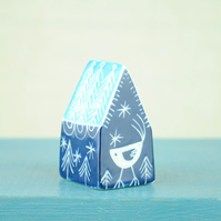 Little Ceramic House (Dark Blue)