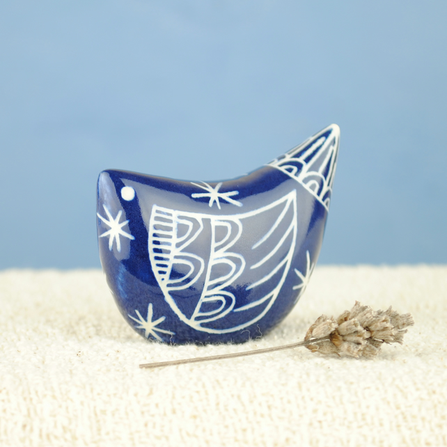 Dark Blue Bird (Small)
