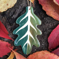 Ceramic Green Leaf Decoration