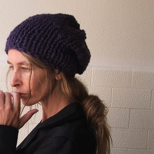 Deep Purple chunky hat