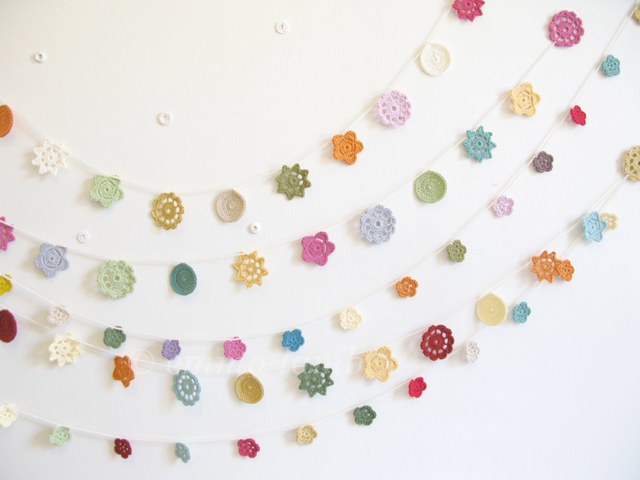 Forever Flower Garland PICK YOUR PALETTE - made to order