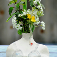 Ceramic Figure flower vase