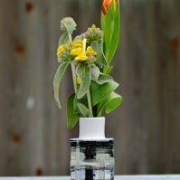 Grey bottle vase