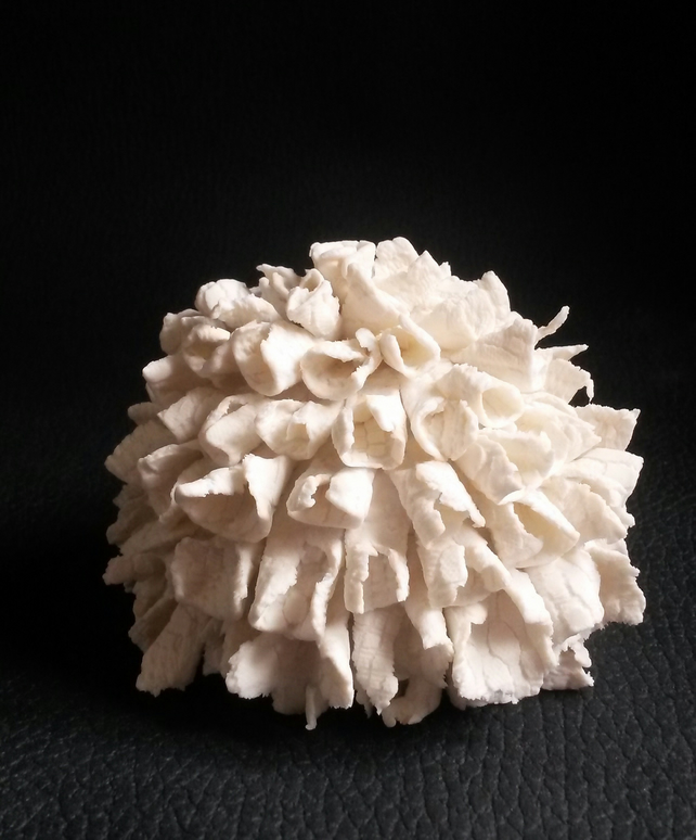 Shaggy Urchin - porcelain sculpture