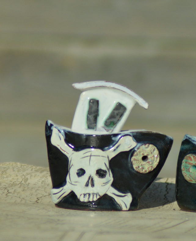Ceramic Pirate Ship
