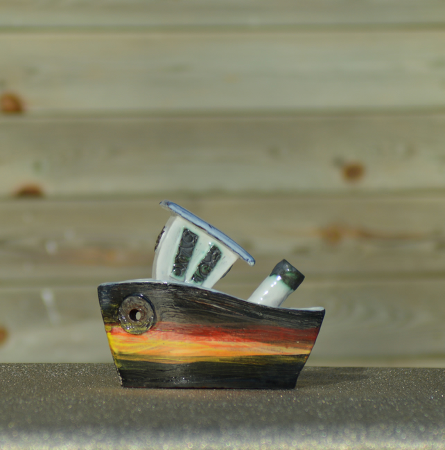 Ceramic Sunset boat