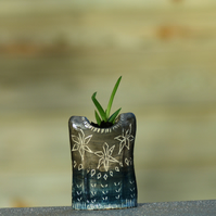 blue-grey Nordic jumper planter