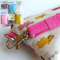 Jewellery Kit and Wristlet - CUTE HIPPOS!