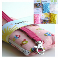 Jewellery Kit and Wristlet - CUTE Pink Russian Dolls
