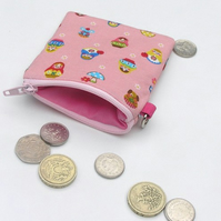 CUTE PINK PURSE - Matryoshka - Japanese Fabric