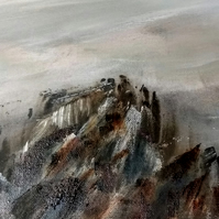 Original oil painting Rugged and dramatic, Ramshaw rocks, choice of framed or