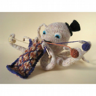 Knitting Octopus Greeting Card