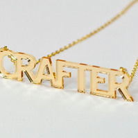 Gold Crafter  Statement Necklace - Laser Cut Acrylic