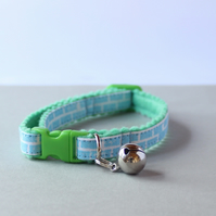 "Handprinted Felt Cat Collar ""Brick"""