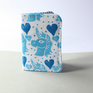 "Handprinted Card Holder ""Unicornucopia"""