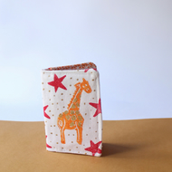 "Handprinted Card Holder ""Giraffe Fun"""