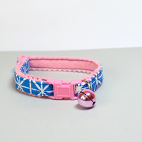 "Soft Felt Handprinted Cat Collar ""Perky"""