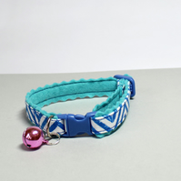 """Speedy"" Soft Felt Handprinted Cat Collar"