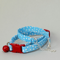 "Cat Collar and Friendship Bracelet Set ""Bubbles"""