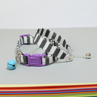 "Cat Collar and Friendship Bracelet Set ""Victor"""