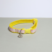 "Handprinted Breakaway Felt Cat Collar ""Princess"""