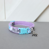 "Halloween Cat Collar ""Lilac Halloweb"""