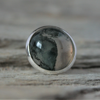 Green Moss Agate Tie Pin